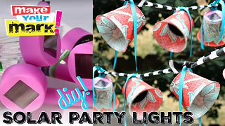Outdoor solar party lights DIY - Video