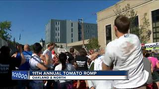 Hundreds gather for rotten tomato fight on Milwaukee's east side - Video
