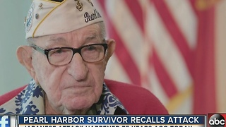Local Pearl Harbor survivor recounts attack on 75th anniversary - Video