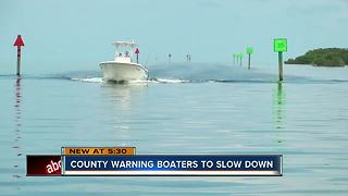 County replacing coastal channel markers, warning boaters to slow down - Video