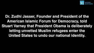 Zuhdi Jasser - Obama Using Refugees To Unravel Our National Identity - Video