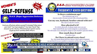Delray Beach police holding women's self defense course