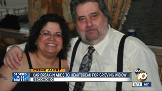 Widow: Pendant holding husband's ashes stolen in car burglary