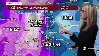 Winter storm warning in Colorado: Here's the latest   11 a.m. Friday