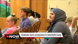 Students learn acceptance in interfaith camp - Video