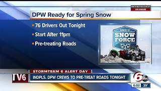 DPW ready for spring snow - Video