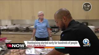 Thanksgiving started early for hundreds of people - Video