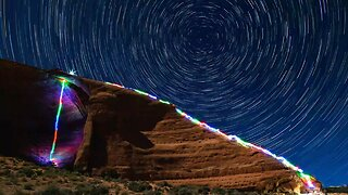 RAINBOW ROCKS! ROCK CLIMBER CREATES STUNNING LONG EXPOSURES