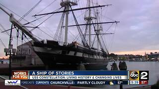 USS Constellation full of stories revealed at turnaround - Video