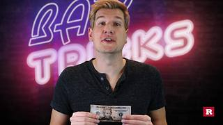 Bar Tricks Flip a bill upside down without turning it over | Rare Life - Video