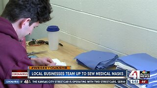 Local businesses team up to sew medical masks