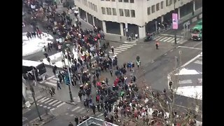 Thousands of Students March in Brussels for Climate Change Action - Video