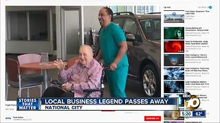 Local business legend passes away - Video
