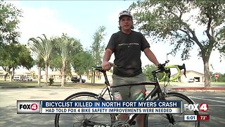 Bicyclist Killed in North Fort Myers Crash