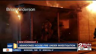 Abandoned house fire under investigation