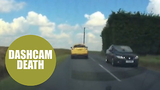Dashcam footage shows near-death collision by stupid driver - Video