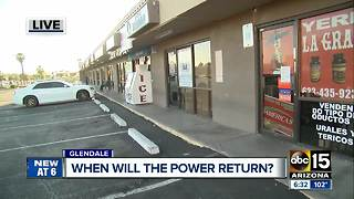 Valley businesses left without power chasing answers - Video