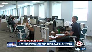 More Hoosiers start their own businesses - Video