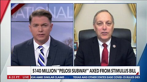 "$140 MILLION ""PELOSI SUBWAY"" AXED FROM STIMULUS BILL"