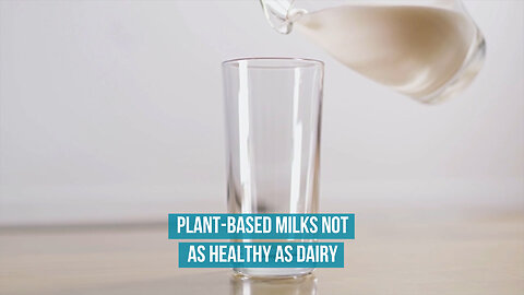 Plant-based milks not as healthy as dairy