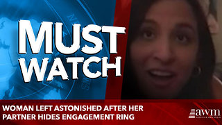 Woman left astonished after her partner hides engagement ring - Video