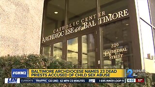 Baltimore Archdiocese names 23 deceased priests accused of abuse