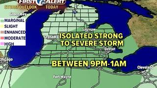 Strong storms possible during the BIG game - Video