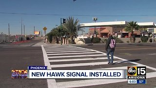 New HAWK signal installed at dangerous Phoenix intersection