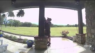 UPS driver caught on camera fixing American flag