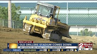 Old Drillers Stadium comes down