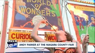 Sunshine the Fire Eater at Niagara County Fair - Video