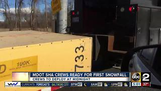MDOT SHA ready for first snowfall - Video