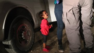 Crying Migrant Girl On Time Cover Wasn't Separated From Her Mother - Video