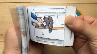 A Flipbook Tribute to Dudley the Dog - Video