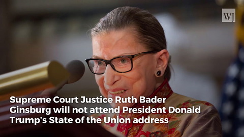 Ruth Bader Ginsburg Has Never Attended a State of the Union Address for a Republican President