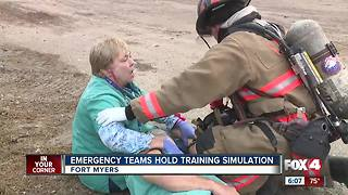 Emergency Teams Hold Training Simulation - Video