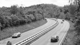 Highway Footage Shows Unexplained Car Disappearance  - Video