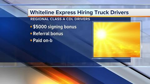 Workers Wanted: truck drivers