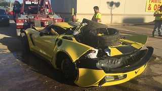 New Limited Edition Corvette Smashed to Pieces Before Owner Picks it Up - Video