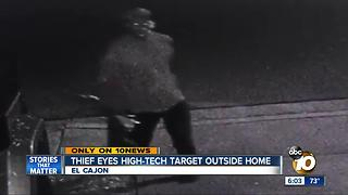 Thief eyes high-tech target outside El Cajon home - Video