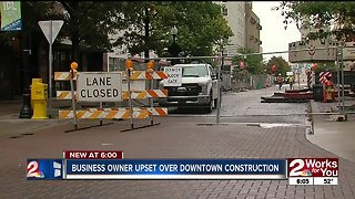 Business owner upset over downtown construction - Video