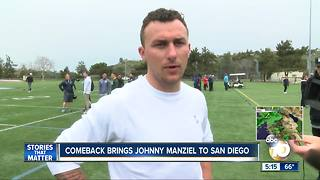 Comeback brings Johnny Manziel to San Diego - Video