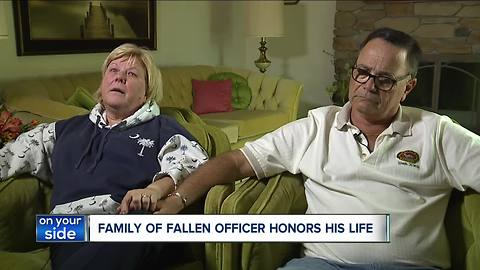 Parents of officer who was shot and killed on Saturday speak out about their son Justin Leo