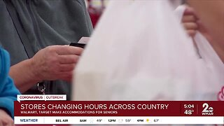 Stores changing hours across country