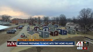 13 veterans move to tiny home village Monday - Video