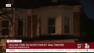 Woman taken to hospital in Baltimore fire