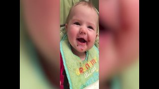 This Baby Trying a new Food will Make Your Day! - Video