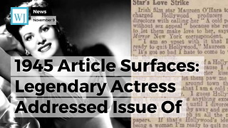 1945 Article Surfaces: Legendary Actress Addressed Issue Of Hollywood Predators 7 Decades Ago - Video