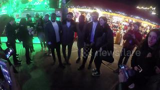 Fans pose with X Factor band Rak-Su at Winter Wonderland