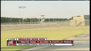 7 inmates killed in South Carolina prison violence